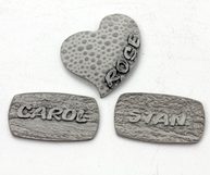 sterling silver name tags