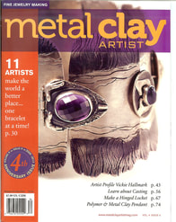 Metal Clay Artist Magizine Cover with Janets bracelet