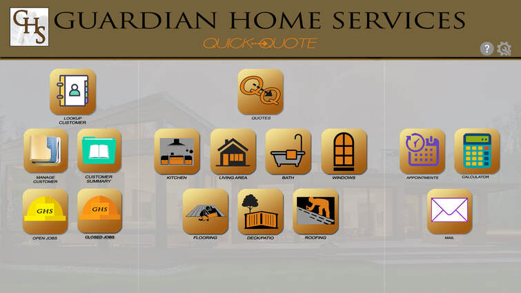 Guardian Home Services UI Design by Janet Alexander